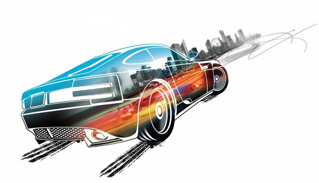 artwork from burnout paradise by criterion