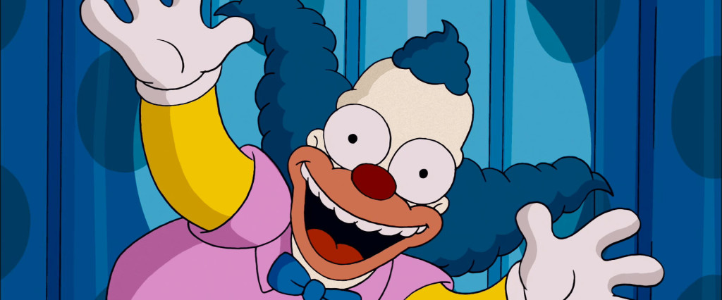 clown krusty from the simpsons