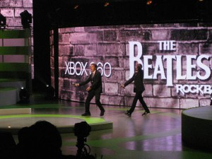 the beatles on stage at E3 2009