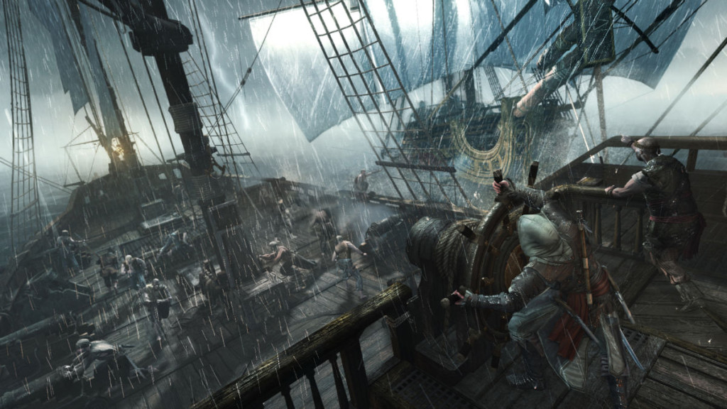 ship battle from assassins creed 4 black flag