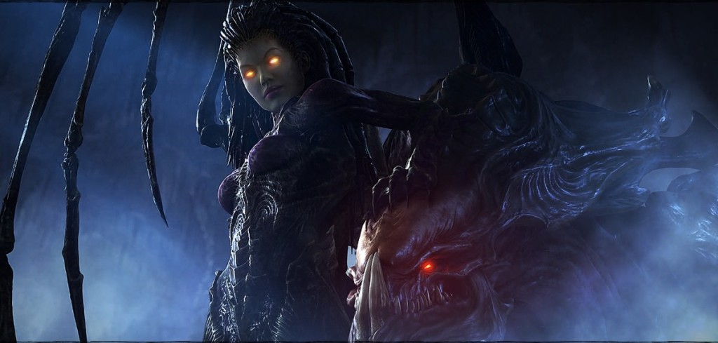 kerrigan and hydralisk from starcraft 2