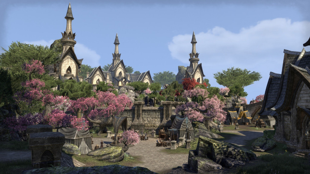 small city from MMORPG the elder scrolls online