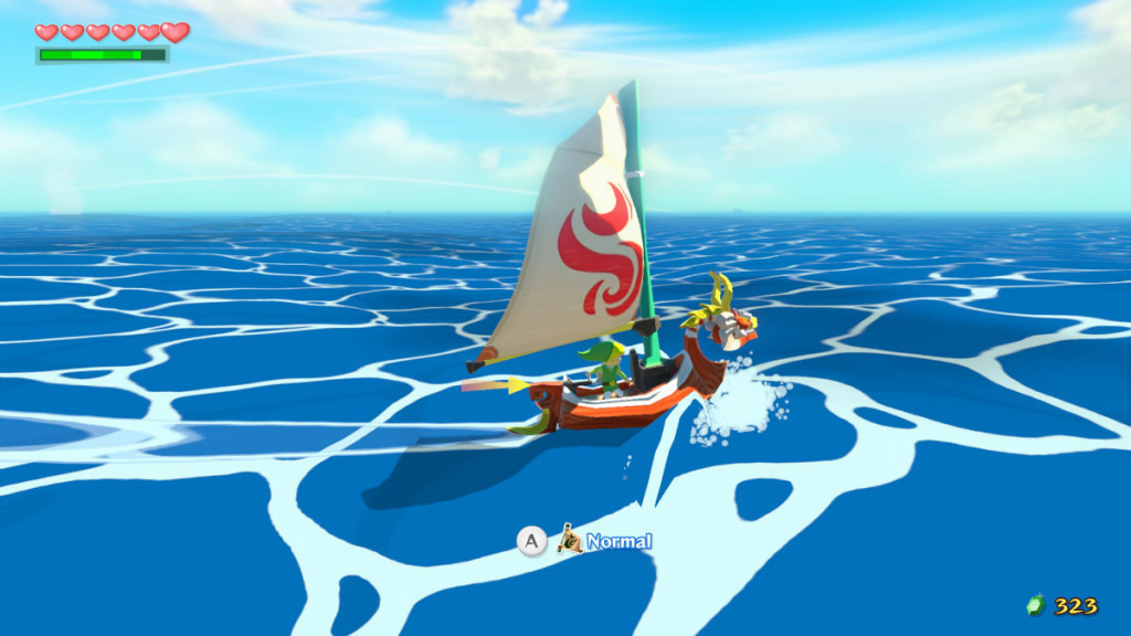 screenshot from the legend of zelda the windwaker HD remake