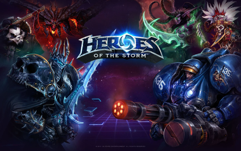 main art from heroes of the storm, blizzard moba