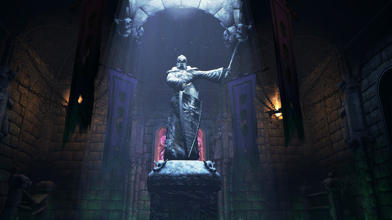 Screenshot of statue from Deathfire video game
