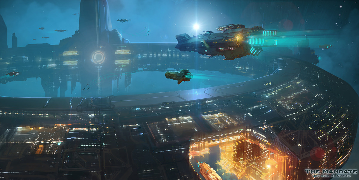 Concept art from sci-fi indie video game The Mandate