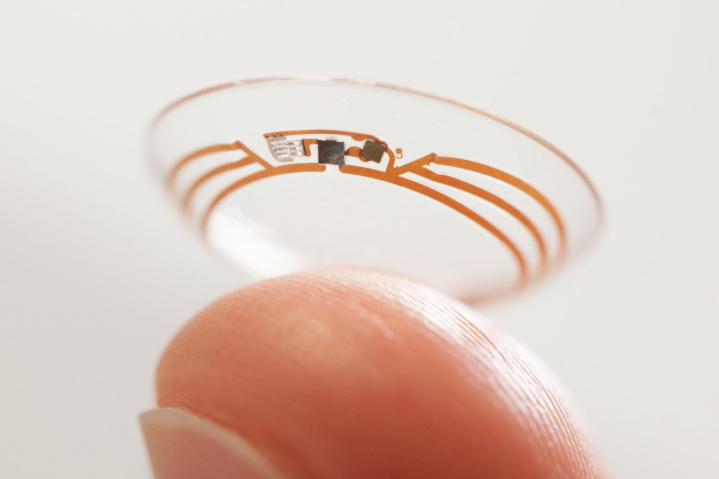 shot of smart contact lens from google