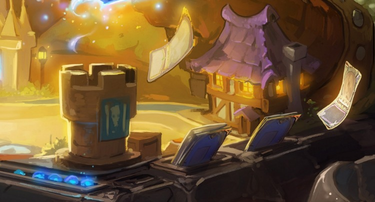 cropped piece of hearthstone table