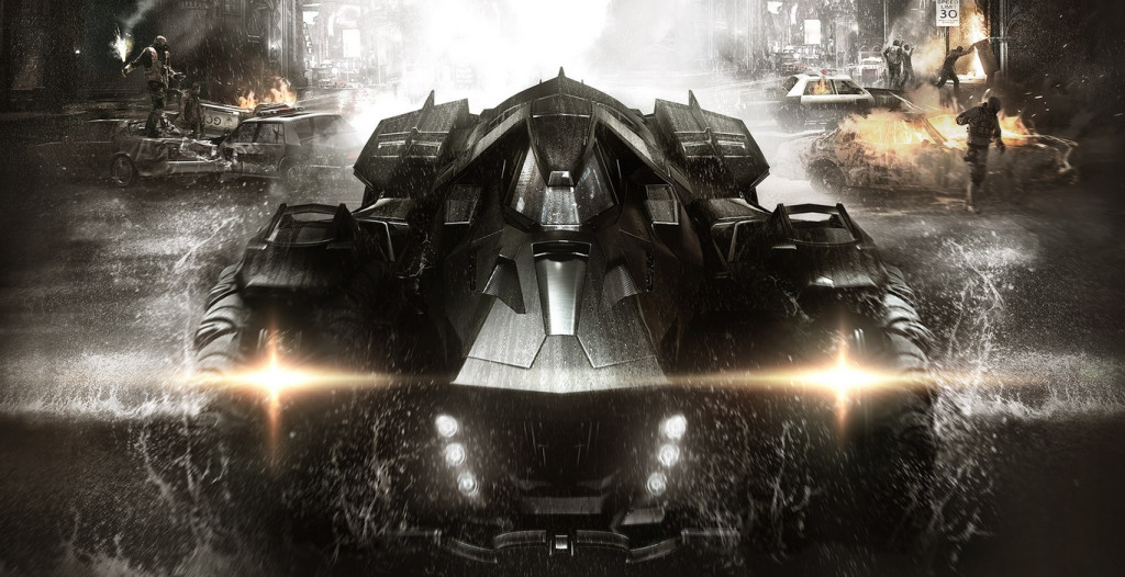 batmobile from batman arkham knight videogame from rocksteady