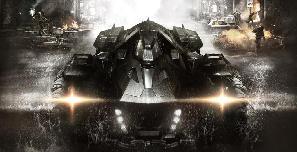 batmobile from batman arkham knight videogame from rocksteady