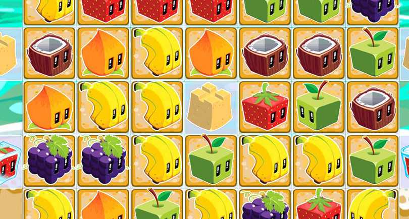 screenshot from juice cubes mobile game