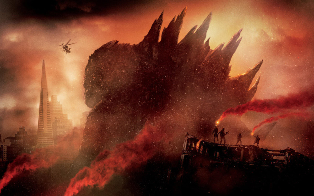 poster for 2014 movie Godzilla