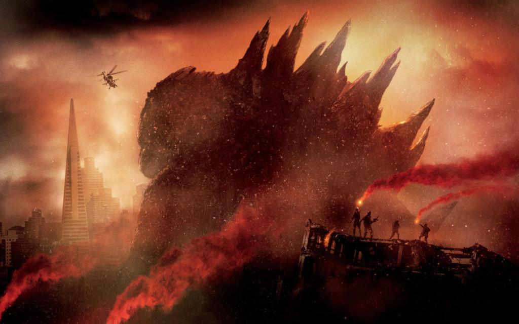 poster for 2014 movie Godzilla